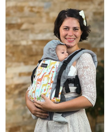 ISARA Giraffix baby, ergonomic adjustable baby carrier organic cotton