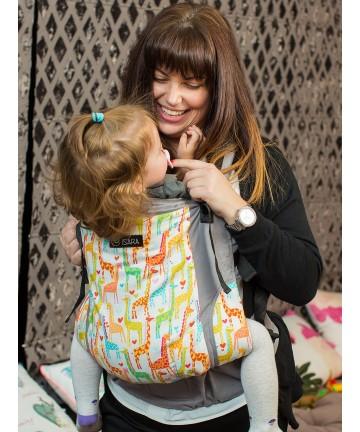 ISARA Giraffix Toddler ergonomic adjustable  baby carrier organic cotton