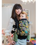 ISARA Funky Owls Toddler ergonomic adjustable  baby carrier organic cotton