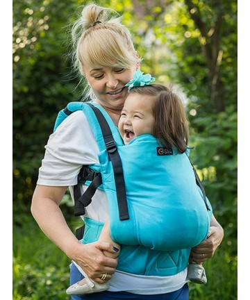 ISARA Full Wrap Conversion Turquoise Toddler ergonomic adjustable organic cotton baby carrier