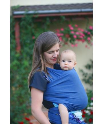 Baby stretchy wrap ISARA blue denim
