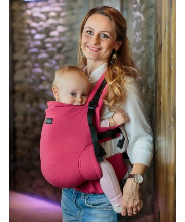 ISARA Full Wrap Conversion Raspberry Toddler ergonomic adjustable organic cotton baby carrier